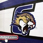 Crockett ms Irving tx  2012 gym wall Eyeful Art