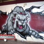 Milsap HS Gym 2008 Bulldog Eyeful Art Milsap ISD