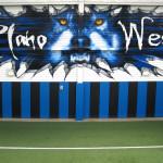 Plano West Gym Wolf Eyeful Art 2006