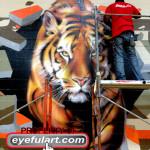 Salyards Ms Cypress-Fairbanks main gym 2012 Eyeful Art Tiger Mural