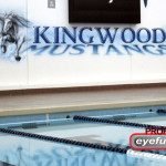 KINGWOOD HS TX Mustangs POOL Eyeful Art 2010