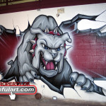 Milsap HS Gym 2008 Bulldog Eyeful Art Milsap ISD