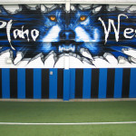 Plano West Gym Wolf Eyeful Art 2006